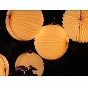 Pacco 5 Lanterne Bianche da Giardino