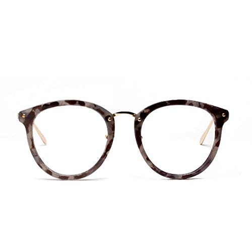Halbmetall Retro Brillengestell Web Celebrity Fashion Brillen, klare Linse. Brille (Farbe : B)