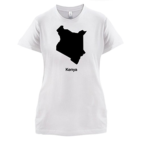 Kenya / Kenia Silhouette - Damen T-Shirt - 14 Farben Weiß