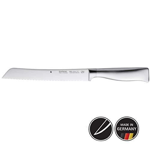 WMF Grand Gourmet Brotmesser Wellenschliff 32 cm, Spezialklingenstahl, Made in Germany, Messer geschmiedet, Performance Cut, Klinge 19 cm