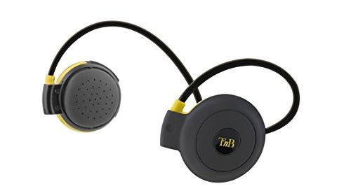 TŽnB Auriculares Deportivos Inalámbricos con Tecnología Bluetooth 4.0, Micrófono y Botones de Control - Resistente a Salpicaduras y Sudor, Perfectos para hacer Deporte.