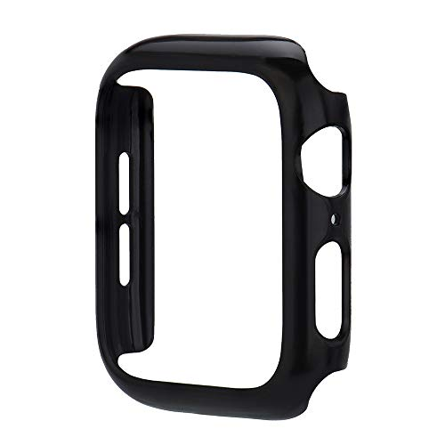 TianranRT Ultra Thin Carbon Fiber Cases Schutz Stoßstange Case Cover Für Apple Watch4 44mm (Schwarz,44mm) (Fiber Carbon Apple-aufkleber)