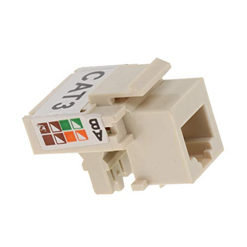 Homyl RJ11 Phone Voice Module Keystone Jack Socket Connector Network Stecker (Weiß) -
