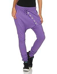 Malito Pantalón Boyfriend Classic Botón Baggy Aladin Bombacho Sudadera 8023  Mujer Talla Única 84b9bb968c34