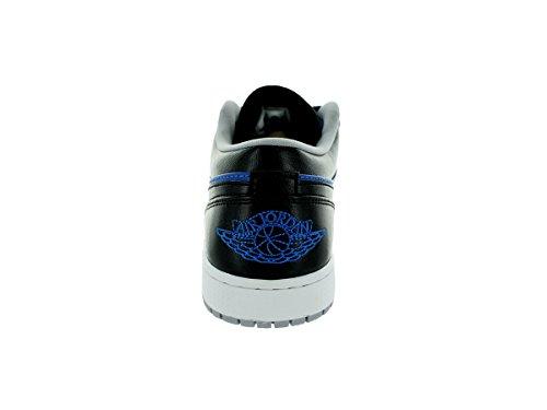 Nike Air Jordan 1 Low, Chaussures de Sport Homme, Taille Bleu sport / gris loup / noir