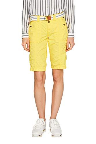 edc by ESPRIT Damen 039Cc1C001 Shorts, Gelb (Bright Yellow 740), W38(Herstellergröße: 38)