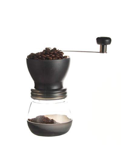 Tiners Manuelle Kaffeemühle Glassatz Mahlstärke Einstellbare Wäsche Tragbare Handkaffeemühle