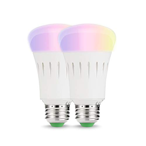 LOHAS 9W E27 WLAN kaltweiß&RGB Smart LED Lampen, Arbeite mit Alexa, IFTTT und Google Home, Ersatz für 60W Glühbirnen, 810lm, Steuerbar via App, Einstellung der Szene, intelligentes Leben, 2er-Pack -