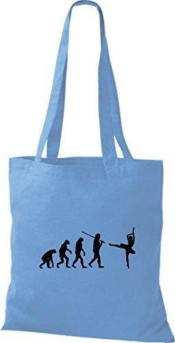 Shirtstown, Borsa a mano donna Blu (blu chiaro)