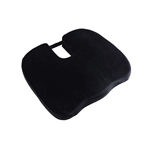 HEWEI Sitzkissen Bürostuhl Autos Memory Foam Steißbein Pad Ischias Rückenschmerzen Körperhaltung Korrektor Shaped-Black-B 45 * 37 * 7 cm (18 * 15 * 3in)