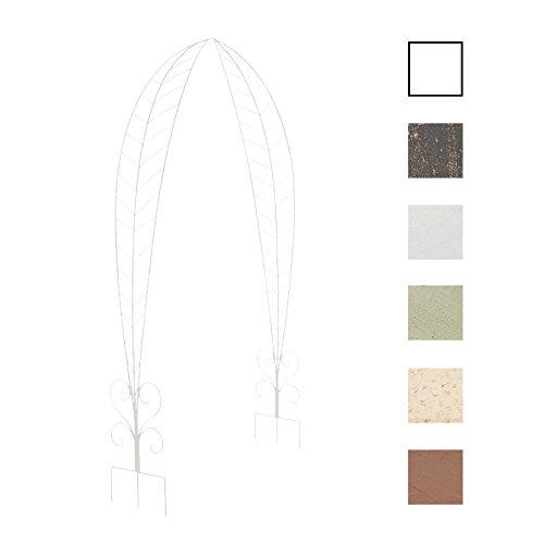 CLP Arceau de Jardin Ellen en Métal Galvanisé - Support pour Plantes Grimpantes avec de Belles Décorations Romantiques - Arcade à Rosiers Hauteur 245 cm - Couleurs: Blanc