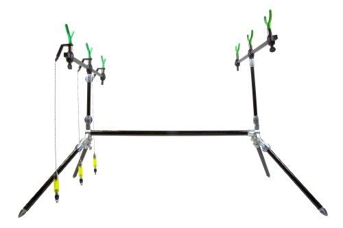Dinsmores Shadow Rod Pod – Funda / tubo para caña de pesca, color negro / negro