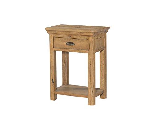 French Eiche klein Hall-Französischer Eiche rustikal 1Schublade Telefon Tisch-Eiche Lampe Tisch-Eiche-Konsole mit 6403Pflanzenschild Eiche Möbel-Flur-Esszimmer-Wohnzimmer, Fu -