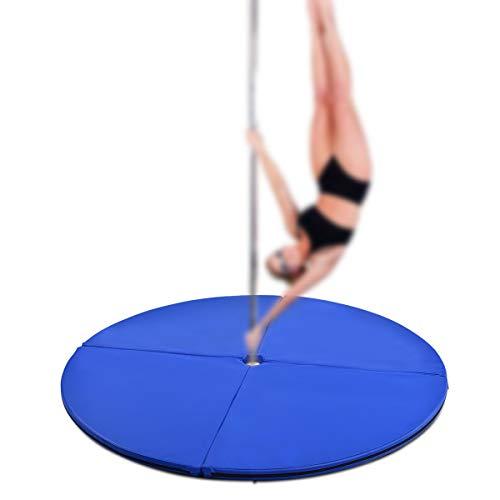 COSTWAY Stangentanz Schutzmatte Pole Dance Matte Fall-Matte Crashmatte (Blau)