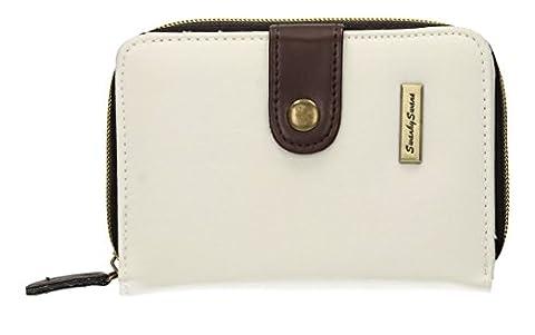 Riley Nylon Womens Small Flip Wallet Purse -- SwankySwans (White)