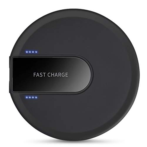 XLTOK Chargeur sans Fil Qi 10W Universel Rapide Wireless Charger Pad, Chargeur à Induction Compatible avec iPhone XS/XS Max/XR/X /8/8 Plus, Samsung Galaxy S10 /S9 /S8 /S7 Edge /S6 Edge - Noir