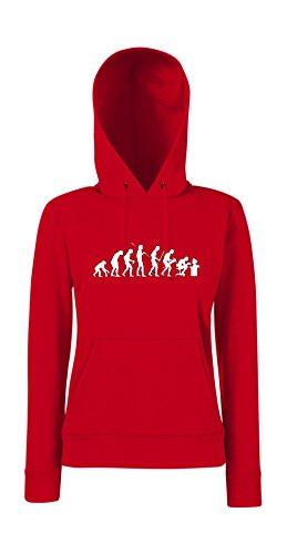 Kapuzenpullover für Frauen - Evolution Computer Rot