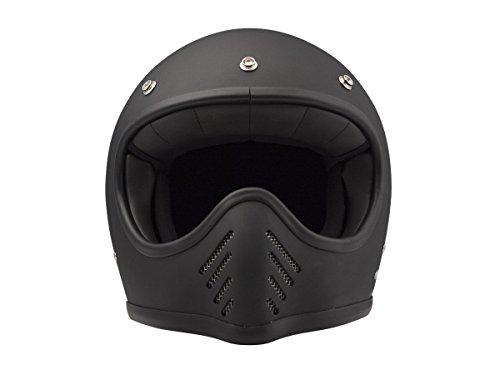 DMD Motorradhelm, Schwarz, Größe L