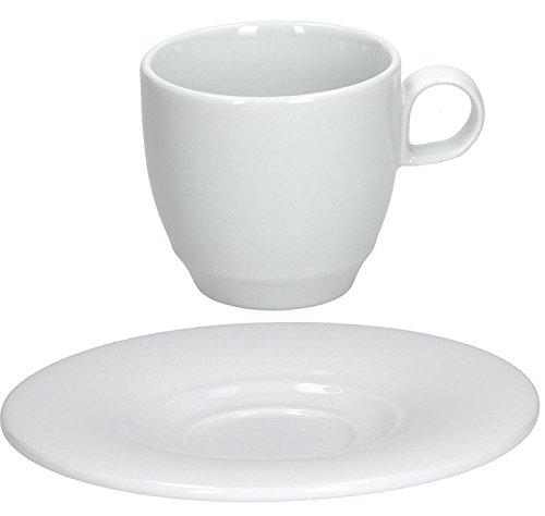 Tognana Thesis Blanc porcelaine Lot de 6 tasses et 6 soucoupes soucoupes. assorti Théière empilable Blanc Porcelian Théière Disponible