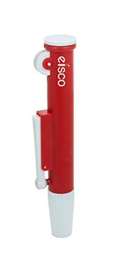 EISCO Pipette Pump - 25 ml, Fast release, Precise Pipetting, Zip Quick Emptying, With Knurled Thumb Wheel To Draw Or Dispense Liquids