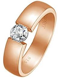 Esprit Jewels Damen-Ring 925 Sterling Silber Solitaire rose ESRG91983B1