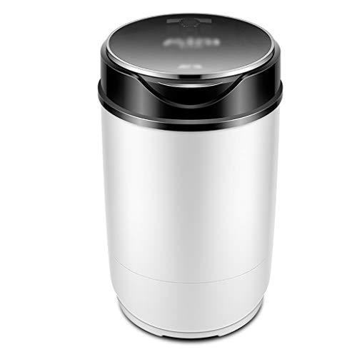 YXWxjy Waschmaschinen Tragbare Mini-Einzel Tub Waschmaschine, Blu-ray antibakterielle 3kg Waschkapazität, einläufige Abnehmbare Ablass Korb, for Camping, Wohnung, Schlafsaal, schwarz (Color : Black) -