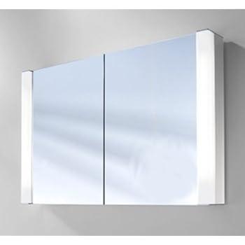 Schneider - Spiegelschrank PEPLINE FL 100cm Aluminium weiss: Amazon ...