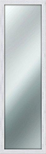 Espejo de pared y estilo Shabby Chic (40x 125cm), color blanco