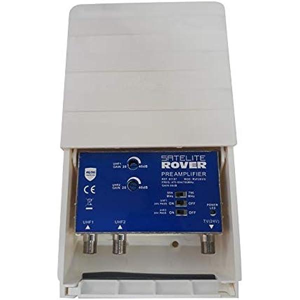 Amplificador de mastil 2e UHF con Filtro 5G: Amazon.es ...