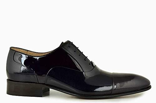 bc07efe444a3a Nevzat Onay Bağcıklı Lacivert Rugan Deri Kösele Erkek Ayakkabı - 41 Ürün  Resmi