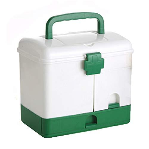 hser Home-Office Auto im Freien große Medizin Box Haushalt Multi-Layer Kunststoff Medizin Box Erste-Hilfe-Kit Medizin Aufbewahrungsbox Gesundheit Box -
