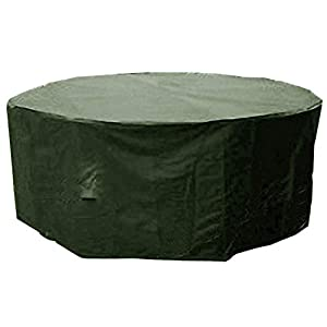 Soneva Small Round Patio Garden Table Set Polyester Cover 163 cm Weatherproof Patio #KC10#102300 (Black)