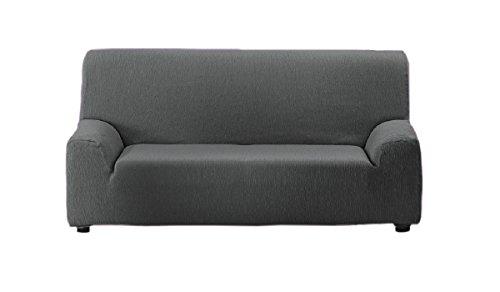 Textilhome - Housse de Canapé TEIDE Elastique, Taille 2 Places- 130 a 180 cm. Couleur Gris