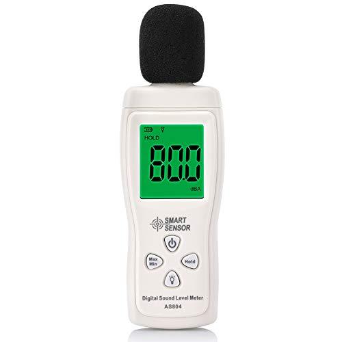 Fonometro, EECOO 30-130dB Misuratore di Rumore Misuratore di livello del Suono Digitale...