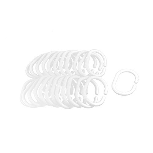 24 Pcs Bad Fenster Glide Duschvorhang Handtuchring Aufhänger Schleifen Ring