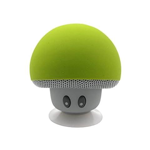 Sudroid Waterproof Mini Portable sans fil Bluetooth haut-parleur stéréo Mushroom Cup aspiration avec la main (Colonne Lisce)