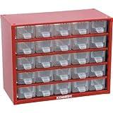 Kennedy Kleinteilemagazin Schubladenschrank aus Stahl 238x306x155 mm mit 25 Schubladen rot