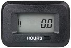 Jayron Jr Hm038ad Ac Dc 5v Bis 277v Digitales Lcd Stundenzähler Set Anfängliche Stunden Einstellbar Verwendung Für Ztr Rasenmäher Generator Schrubber Für Marine Golfwagen Auto Atv Motorkompressor Auto
