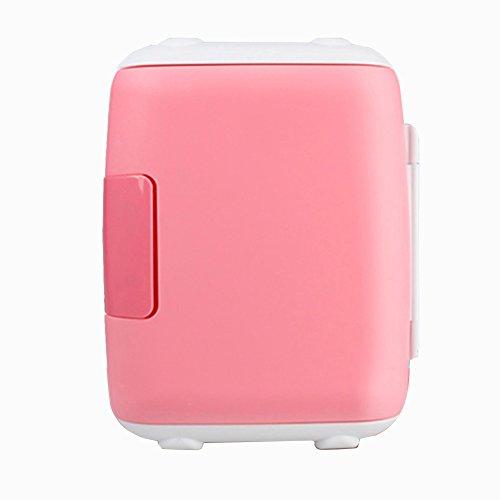 shopMatrix - LIQICAI 4L Electric Cool Box Refrigerator 1 Door Heating Cooling Double Use 12V 230V 240V (Color : PINK)