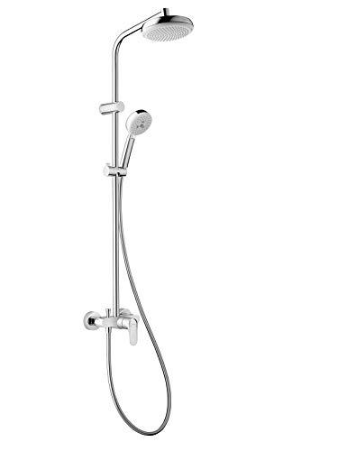 Hansgrohe 26739400myclub 180miscelatore meccanico colonna per doccia, bianco/cromo