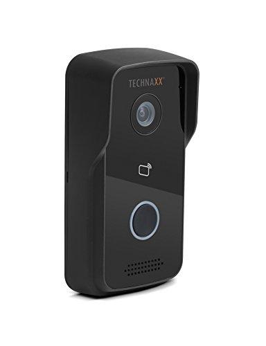 Technaxx 4649 Smart WiFi Video Türtelefon TX-82 mit Aussenkamera, Türöffnerfunktion und Gegensprechanlage schwarz (Tx Wifi)