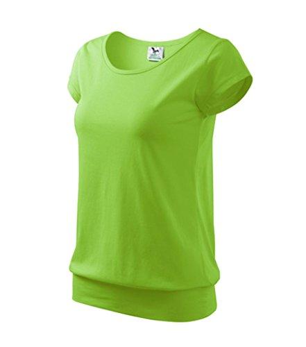 Dress-O-Mat Damen T-Shirt Shirt rundhals Bund Gr L apfel grün (T-shirt Frauen Apfel)