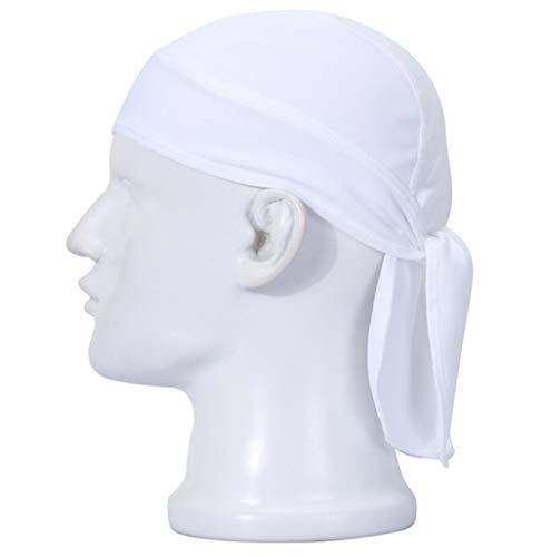HASAGEI Sports Bandana Radfahren Kopftuch Atmungsaktiv Hat Quick-Dry Fahrrad Helmmütze Skull Cap (Weiß)