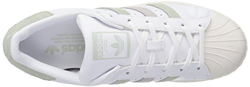 Adidas Originals Sneaker SuperstarFashion White/Linen Green Ice Purple Fabric