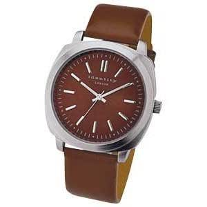 IDENTITY London Gents Retro Brown Strap Watch