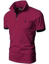 6cd83610 GHYUGR Polos Manga Corta Hombre Bordado de Ciervo Camisas Slim Fit Camiseta  Deporte Golf Poloshirt Verano