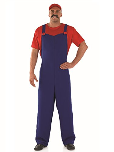 Imagen de plumbers  disfraz de súper mario bros para hombre, talla 48  50 fs2279 m