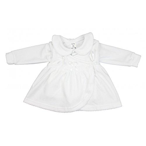 Taufkleid Baby Taufkleidung Mädchen Babykleid Jäckchen Langarm Nicki 2-tlg. Set, Farbe: Weiß, Größe: 68