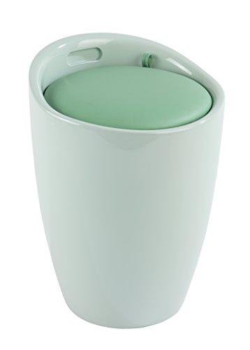 Wenko 21951100 Candy - Taburete de baño de plástico, 38,5x 38,5x 53cm, plástico, Verde Menta, 38.5x38.5x53.0 cm