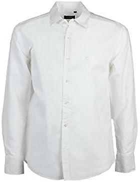 Camicia misto lino bianca